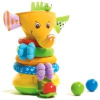 Пирамидка МУЗЫКАЛЬНЫЙ СЛОНИК. Развивающая игрушка сортер