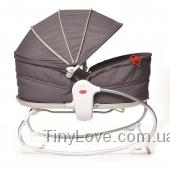 Мамина любовь 3 в 1. Кроватка-качалка до 18кг с капюшоном (Серое)