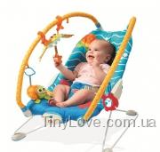 детское кресло шезлонг баунсер с вибрацией ПОДВОДНЫЙ МИР